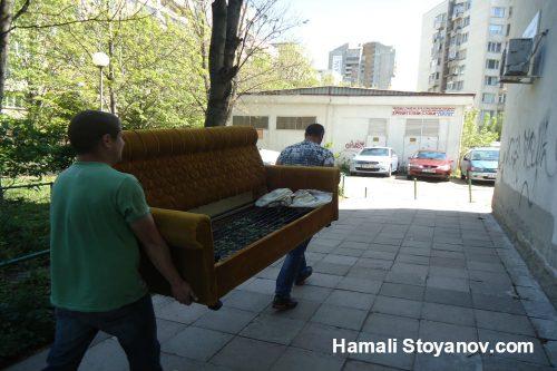 Евтино извозване на стари мебели в София