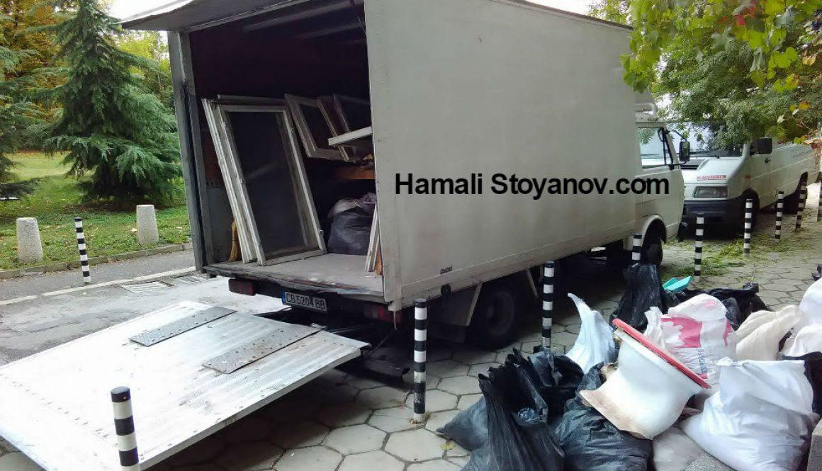 Извозване на строителни отпадъци в чували