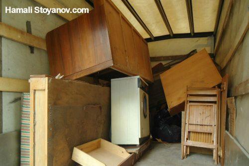 Извозване на стари мебели в София от Хамали Стоянов
