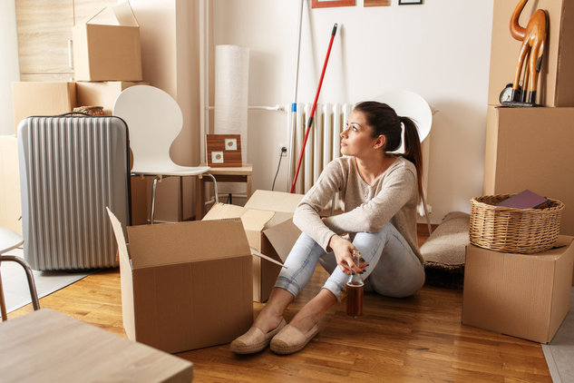 след преместване на дома. Разопаковане на багажа и сглобяване на мебелите.