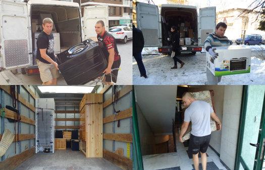 Превоз-преместване на мебели и багаж София