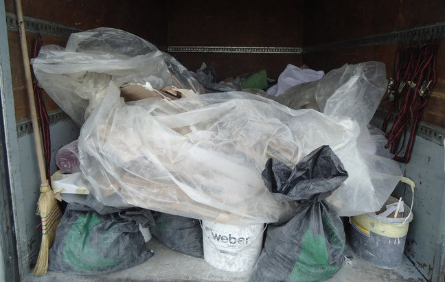 почистване на жилище след ремонт, извозване на отпадъци до сметище